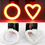 Soojet USB Rechargeable LED Rear Bike Sports Bicycle Rear Light Rear Light Led Max 200Lumen Red Light 5Light 3000LM–Stylish Design