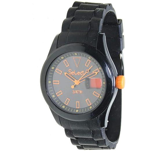 Select Rt-10-2 Reloj Analogico para Niño Caja De Plastico Esfera Color Negro: Amazon.es: Relojes