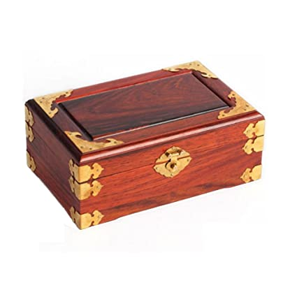 NAN Caja de joyería decorativa roja de madera de palisandro rojo de China Caja de joyería