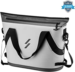 Soft Cooler Bag Tote Portable Large Beach Cooler 6.9Gal 26L 36 Can Insulated Leak & Waterproof High Ice Retention Pack Cooler for Car, Camping, Fishing, Floating, Hiking, Sports, Party, Picnic