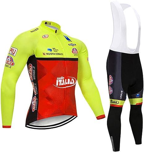 Wulibike Tuta Ciclismo Uomo PRO Squadra Maniche Lunghe MTB Ciclismo Invernale