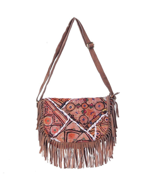 Jaipur Textile Hub Indian Handmade Cotton Orange Bag ( JTH-BGD-39 )