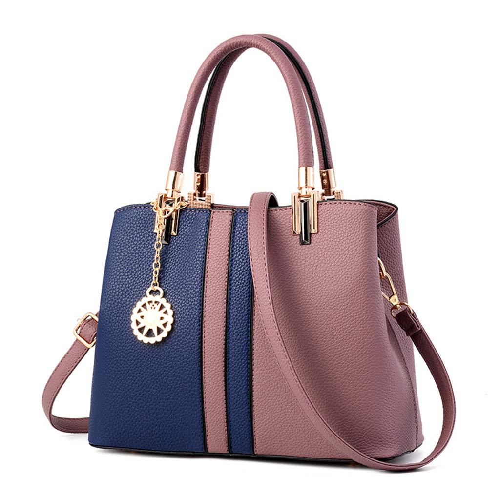 GYPING Kvinnors färgmatchande PU crossbody handväska designer topp mode handtag axelväska arbete shopping resor bankett handväska, lila Lila