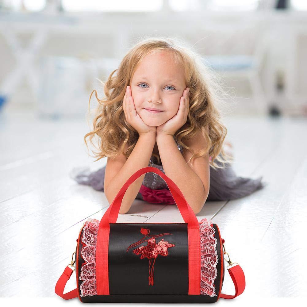Niulyled Girls Dance Ballet Borsa a Tracolla per Danza, Personalizzabile, Borsa a Tracolla, Borsa per Bambini Bambini Latin Dance Bag Gonna per la Danza con Decorazione Rosa