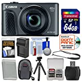 Canon PowerShot SX730 HS Wi-Fi Digital Camera (Black) with 64GB Card + Case + Battery & Charger + Tripod + Strap + Kit