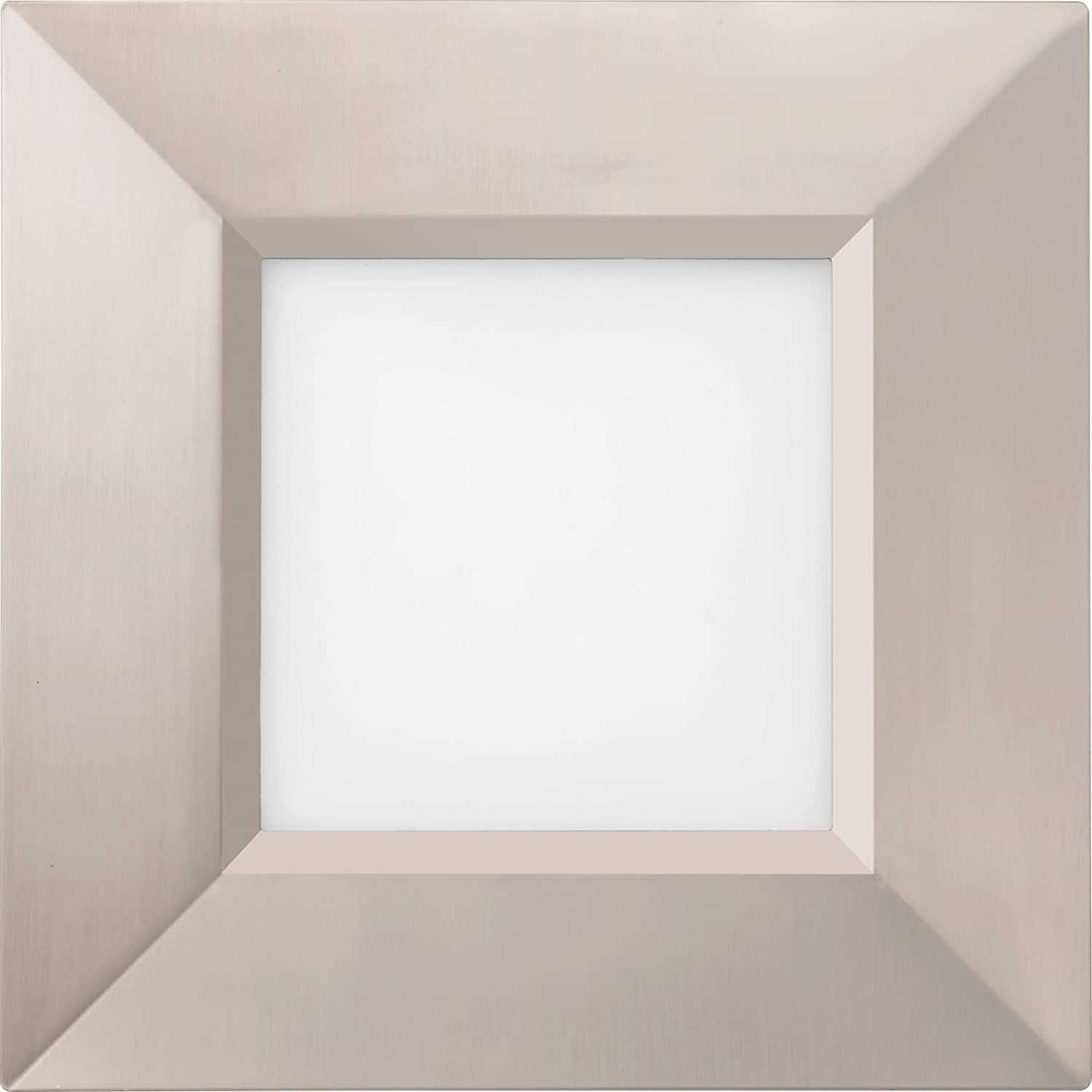 Lithonia Lighting B WF4 SQ B LED 40K MB M6 4000K 10.3W Ultra Thin Square Dimmable Recessed Ceiling Light with Baffle Trim 4 Matte Black