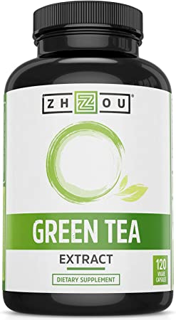 Zhou Green Tea Extract with EGCG   Metabolism, Energy and Healthy Heart Formula   120 Veggie Capsules