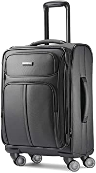 Leverage LTE Softside Expandable Luggage with Spinner Wheels, Charcoal, Carry-On 20-Inch