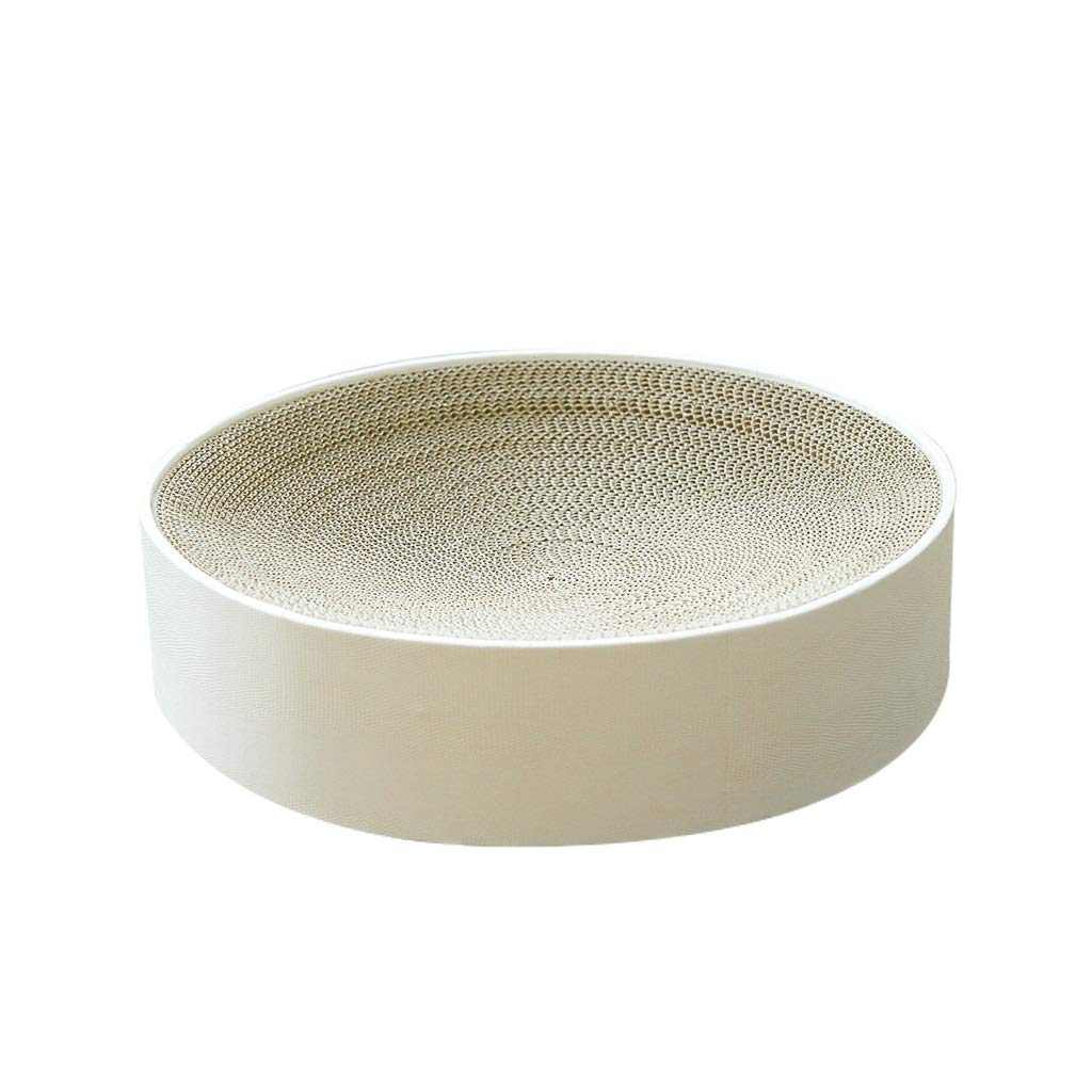 Corrugated Cat Bed Can Also Be Used As A Cat Scratch Board,pet Bed in The Shape of A Bowl,Warmth and Security(White)