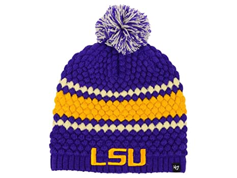 9c538b3acbf Image Unavailable. Image not available for. Color  Outerstuff LSU Tigers  47  NCAA Women s Leslie Beanie ...