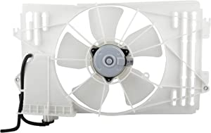 BOXI Radiator Cooling Fan Assembly for 2003-2008 Pontiac Vibe / 2003-2008 Toyota Corolla / 2003-2008 Toyota Matrix (ONLY fits 1.8L Engine) Replaces 16361-0D090 620630
