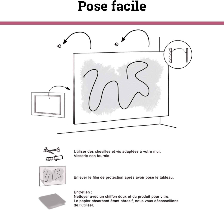 Scenolia Tableau Verre Acrylique d/éco /& Design Entre Chien ET Loup 50 x 50 cm D/éco Murale Qualit/é HD