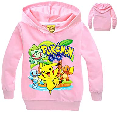 Unisex Pokemon niños Impreso Pullover Casual Sudadera con Capucha Capa Suelta para niños y Adolescentes Camisetas de Manga Larga Sudadera Clásica: ...