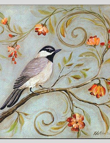 WEIAN Dipinti a olio di fiori di moderno e di stile di uccelli ...