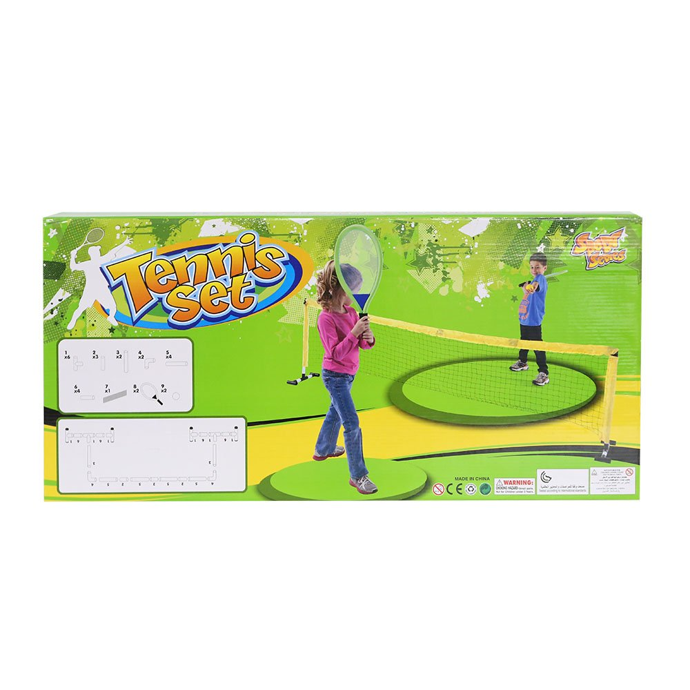 Livebest Portable Tennis Playset with Net Racket Balls