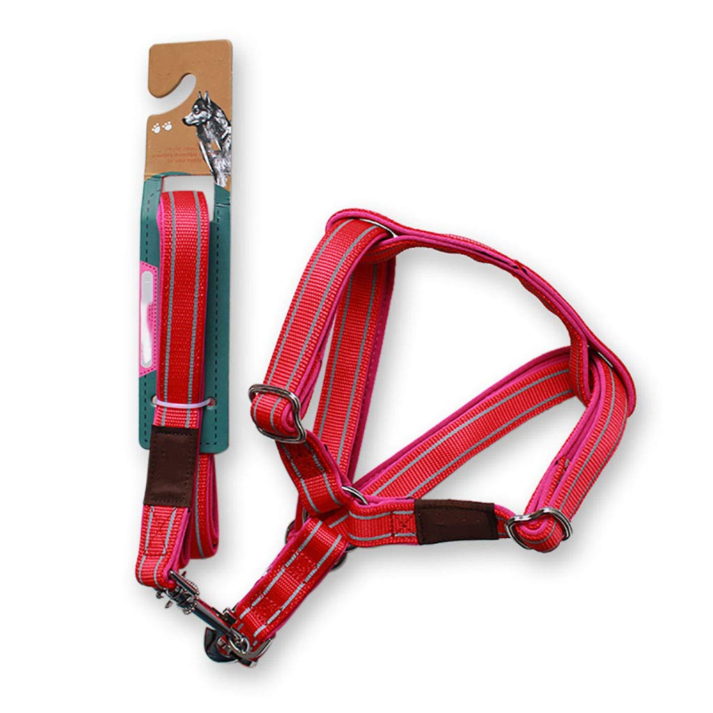 2.5 Dog Leash Chest Strap Adjustable Dog Harness no Pull Reflective Vest with Handle High Straps Easy Control Harness