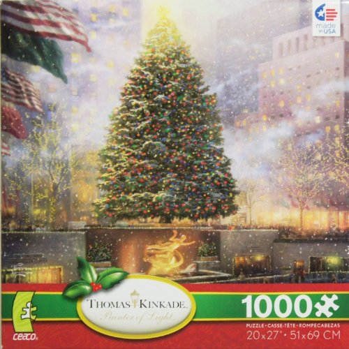 THOMAS KINKADE Painter of Light Christmas in New York 1000 Piece Jigsaw Puzzle MADE IN USA PUZZLE