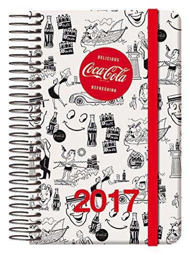 Dohe Coca-Cola - Agenda 2017, día página, diseño cartoon, 9 x 14 cm