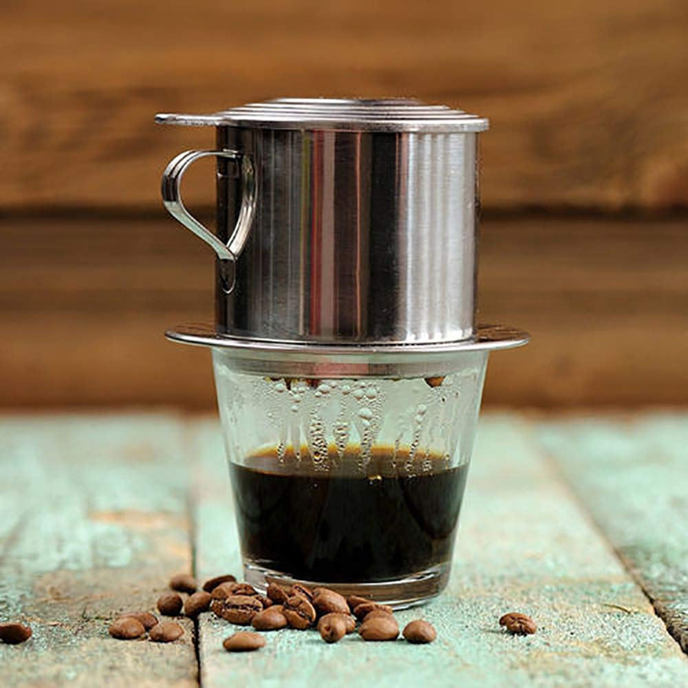 Vietnamese Coffee Filter Maker,Stainless Steel Vietnam Vietnamese Coffee Simple Drip Filter Maker Infuser New (100ml) by Way2top (Image #6)