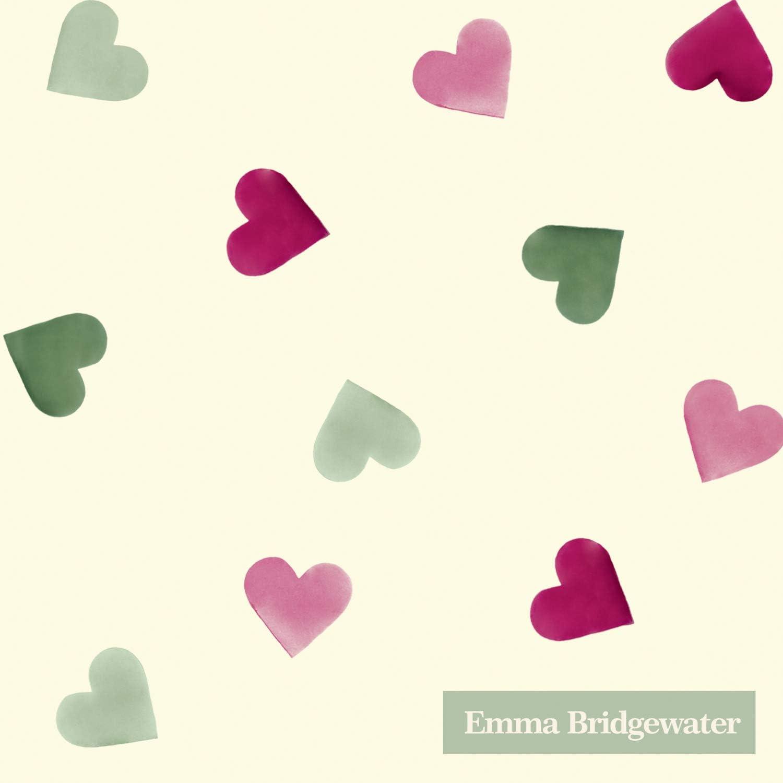 Tovaglioli di carta da t/è o cocktail con cuori rosa 25 cm Bridgewater Emma confezione da 20