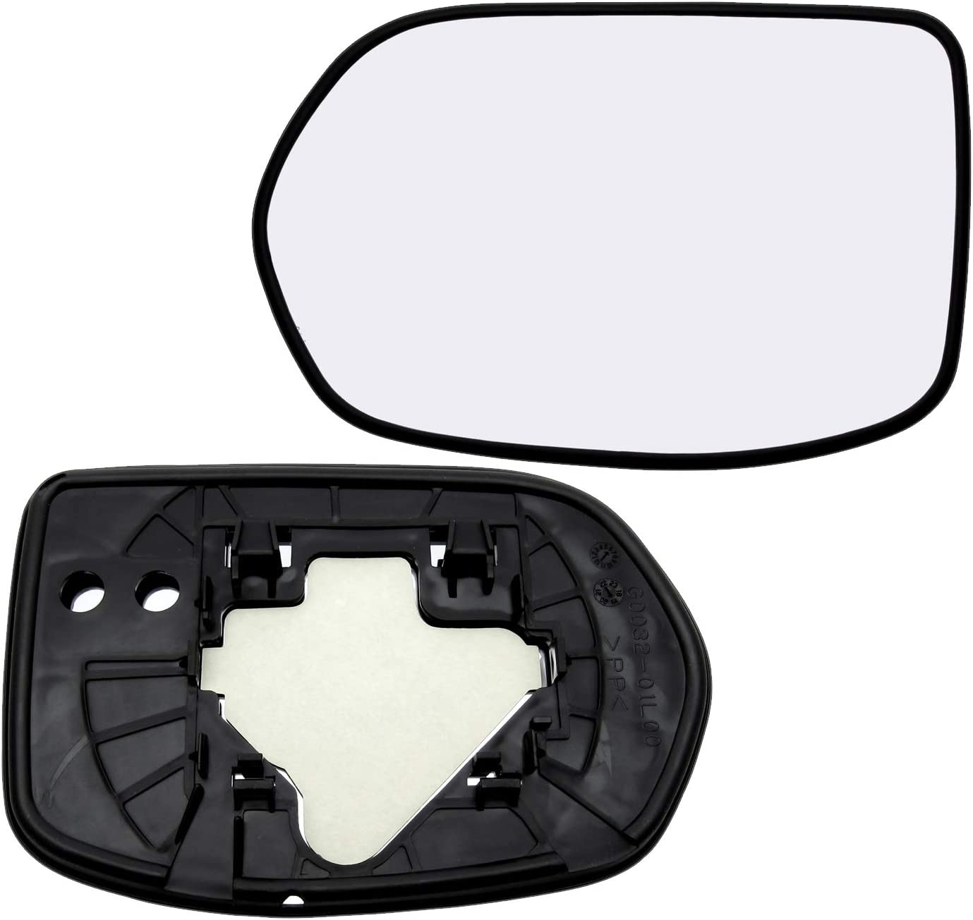 New Replacement Driver Side Mirror Glass W Backing Compatible With 2007-2011 Honda CR-V Sold By Rugged TUFF