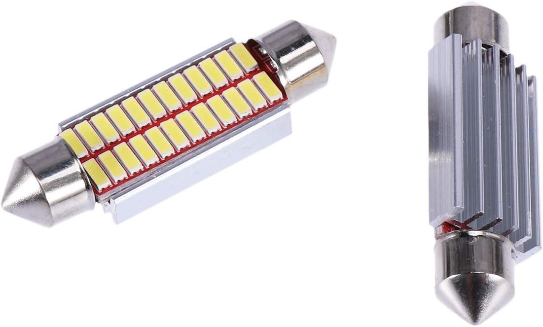 41MM-24SMD Vosarea 2pcs Festoon llev/ó bombillas luz de b/óveda del coche para las luces de puerta interiores de la placa de la b/óveda de la b/óveda del coche