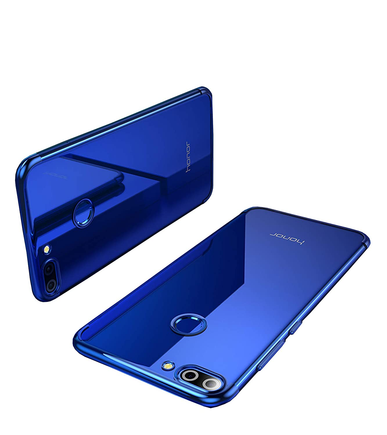 info for c2051 16e4f Bounceback® Huawei Honor 9n Case Shockproof Slim Electroplated Transparent  Soft Back Case Cover for Honor 9n - Clear Blue