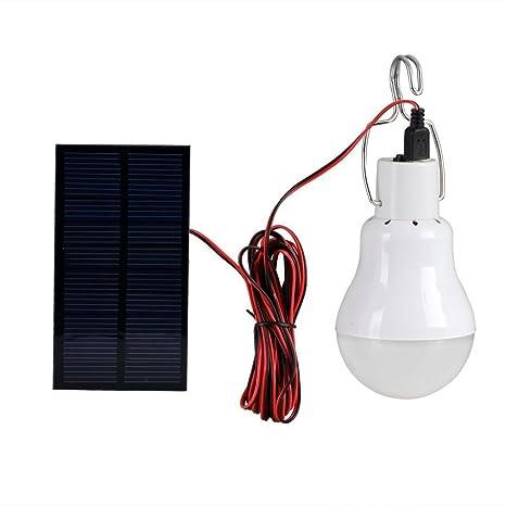 Luce Per Esterno Con Pannello Solare.Lampadina A Led A Energia Solare Portatile A Led 0 8 W Luce A Energia Solare Con Pannello Solare Per Illuminazione Esterni Per Campeggio Pesca