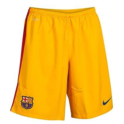 Amazon.com   Nike 2015-2016 Barcelona Home Goalkeeper Shorts (Gold ... 80ebd12cf