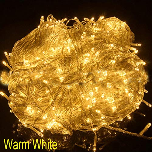 MSOO Christmas Tree Fairy Party Lights Waterproof 8-Color Controllable 100 LED 10M (Gold) ()