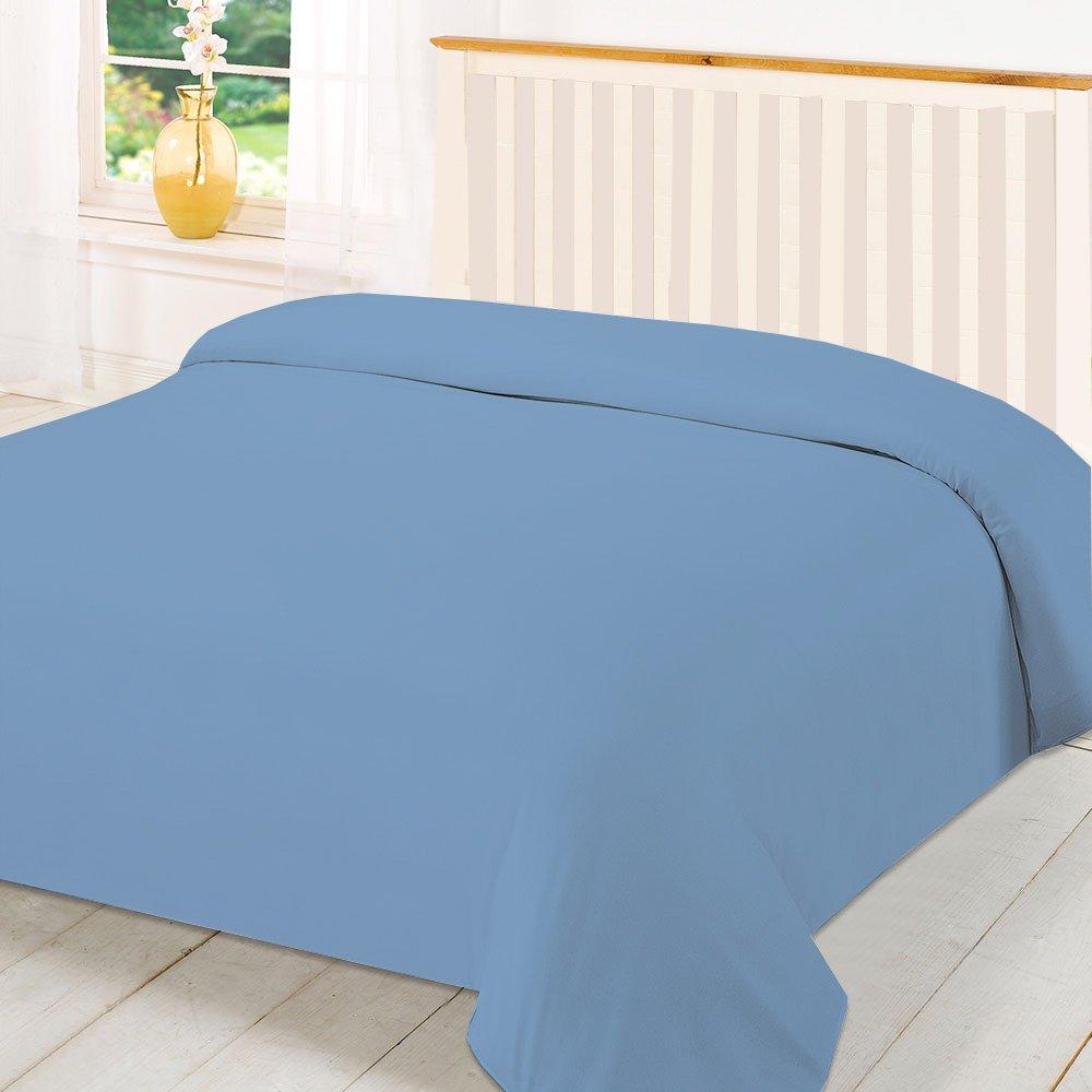 Queen 600TC Wonderful 100# Egyptian Cotton 1PC Duvet Cover,Light Blue Solid BedDecor BD-WOS-QU-600-DC1PC-LIBLSO