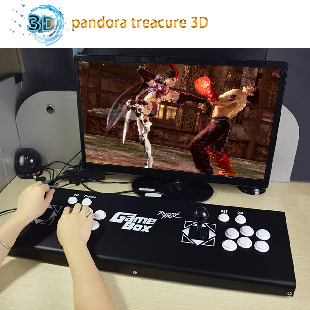 ElementDigital Arcade Game Console 1080P 3D & 2D Games 2350 in 1 Pandora's Box 160 3D Games 2 Players Arcade Machine with Arcade Joystick Support Expand 6000+ Games for PC / Laptop / TV / PS4 by ElementDigital (Image #5)