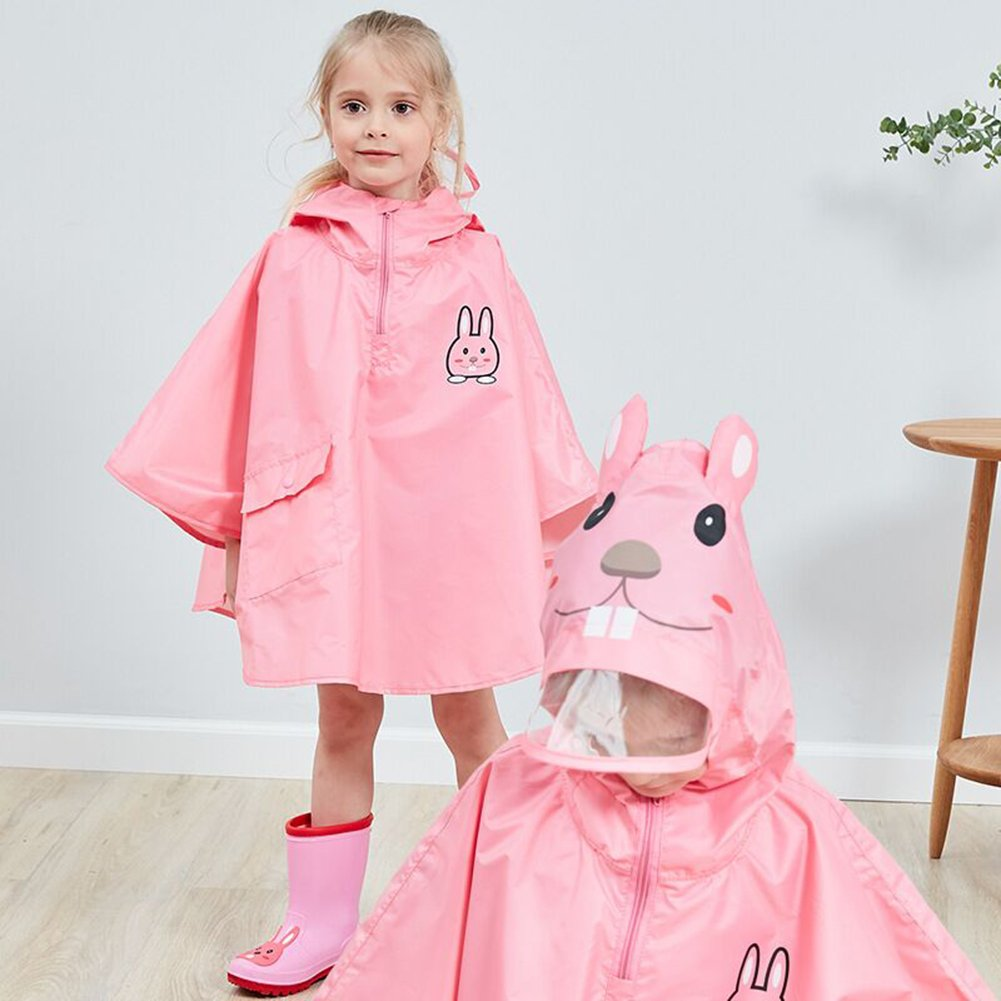 Poncho Waterproof Children,Kids Stereo Cartoon Animal Shape Waterproof Poncho Student Rain Gear 2-6 Years Old