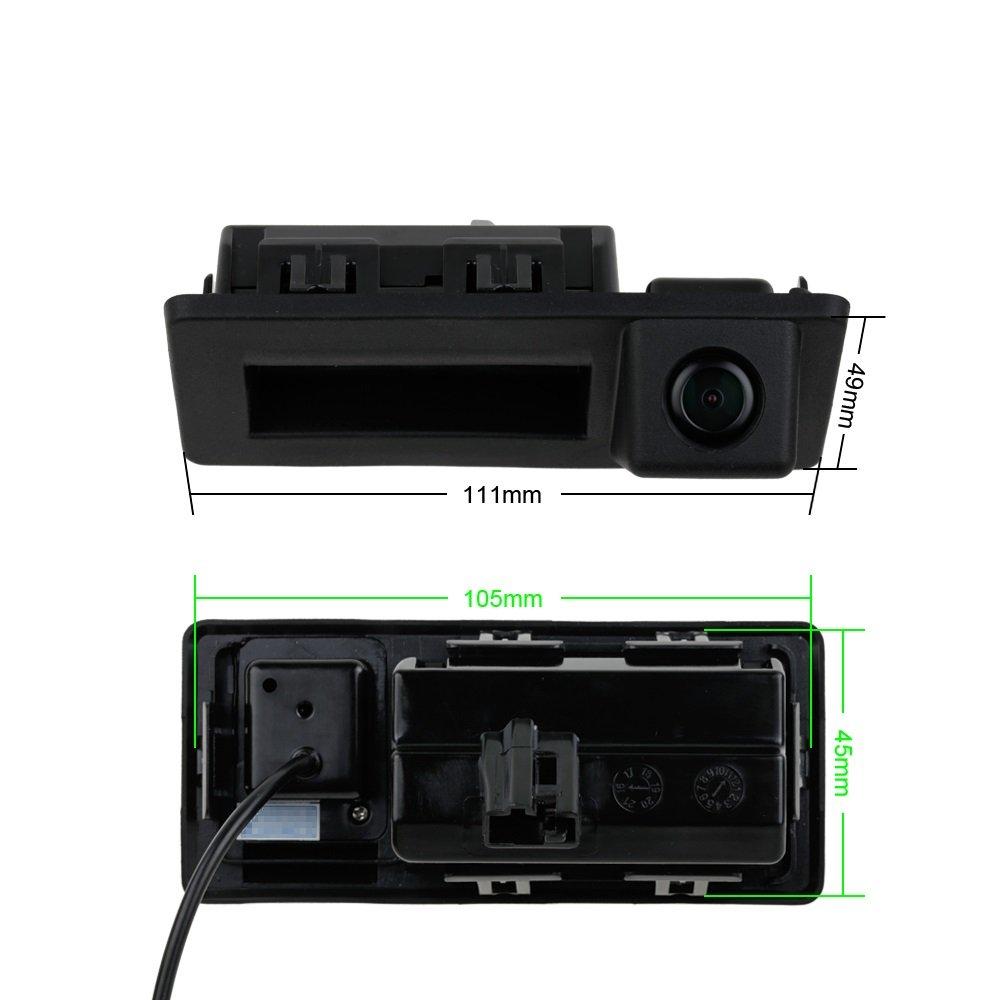 Telecamera Posteriore in Barra per Audi A4L VW Teramont C-TREK Touran L Tiguan L 2016-2019 Skoda Aktavia A7 2016-2018