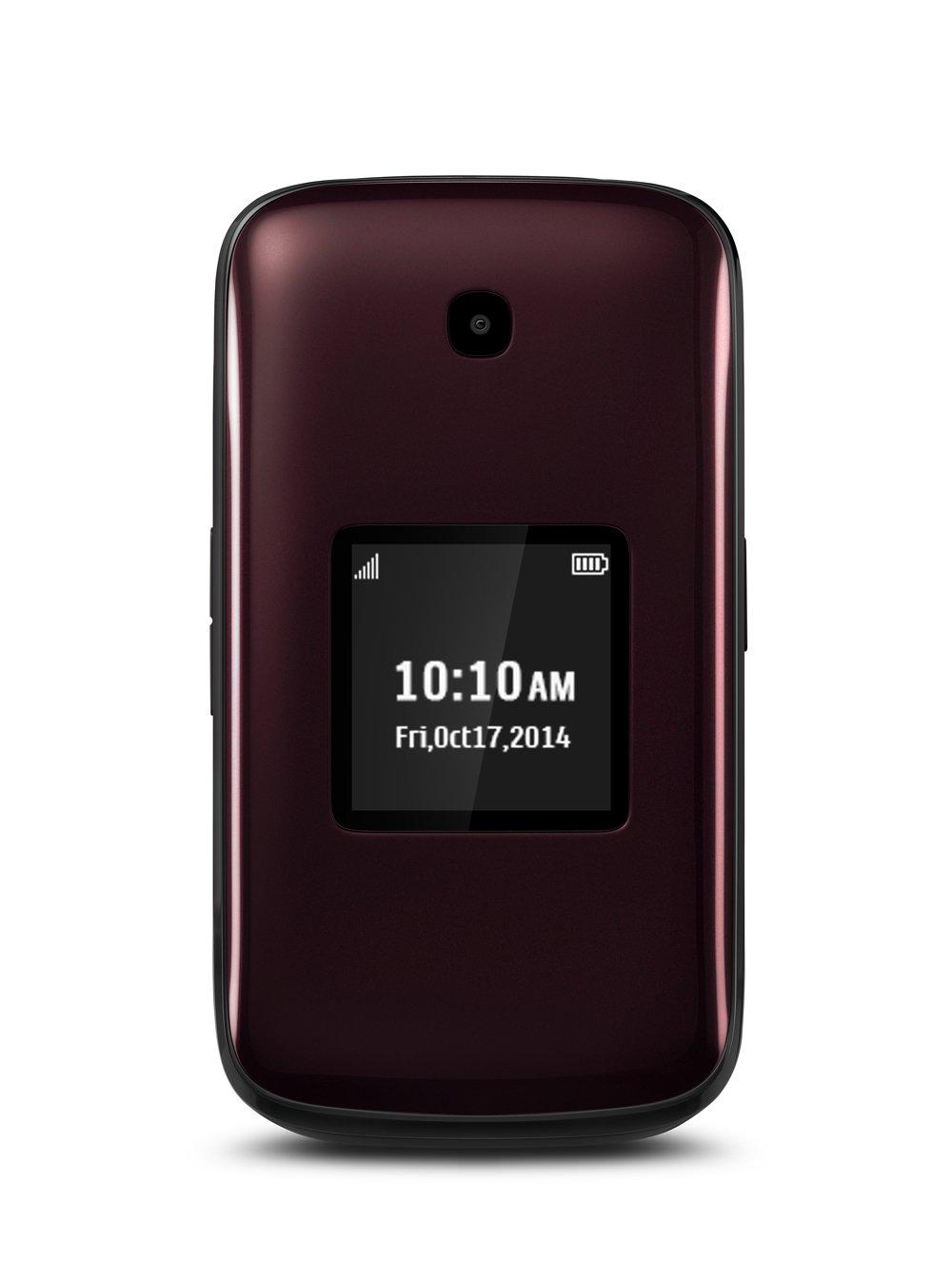 amazon com alcatel onetouch retro reddish black sprint cell