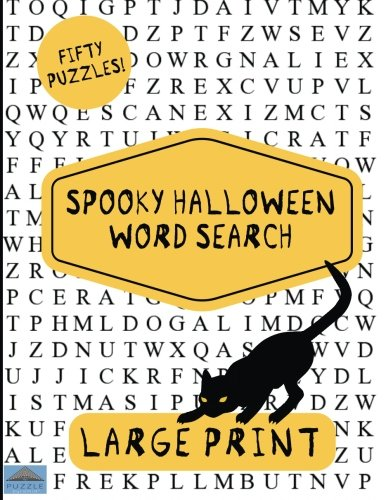Spooky Halloween Word Search: Large Print Word Search, Word Search Book, Halloween Puzzles, Word Find