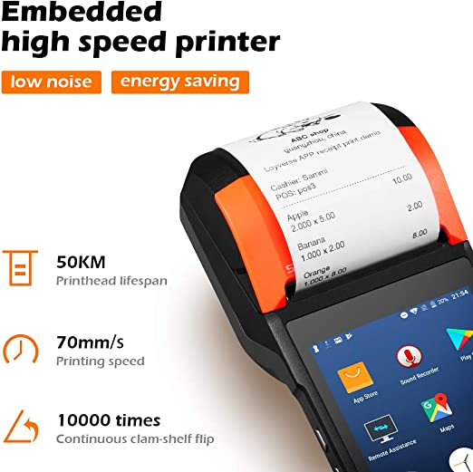 MUNBYN POS Terminal Receipt Printer, PDA 58mm Printers Android 7.1 OS and 5.45