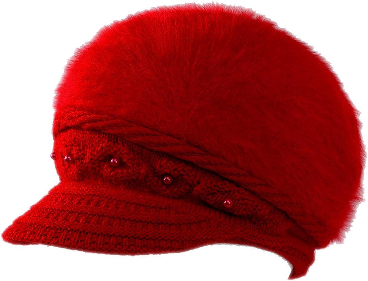 Women Wool Angora Beret Hat...