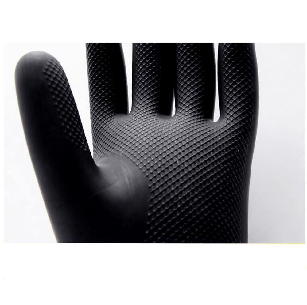 Yifant Industrial Gauntlet Gloves Long and Thick Rubber Latex Gloves Elbow Length 60cm Anti-acid Hand Protector Wear,Black 1 Pair by Yifant (Image #7)