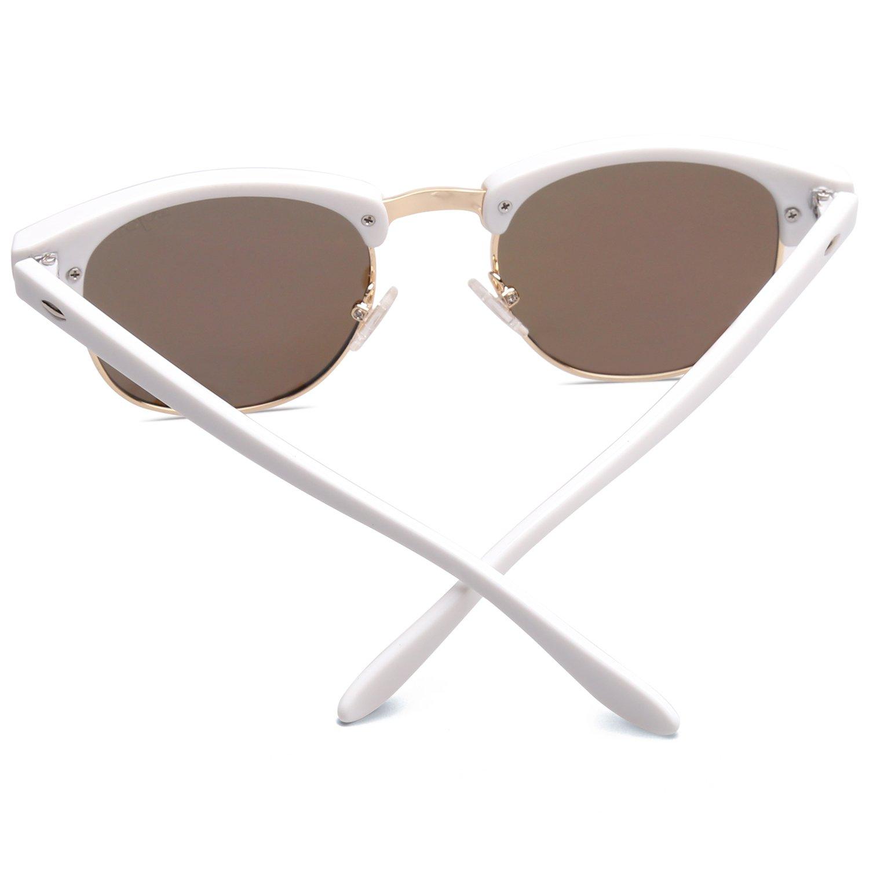 4930b3b475 SOJOS Lunettes Polarisé Optique Cadre Clair Verres SJ5018 (C06 Blanc Cadre/Rose  Lentille): Amazon.fr: Vêtements et accessoires
