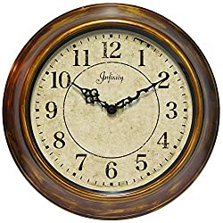 Infinity Instruments 14 inch Bronzed Copper Wall Clock The Keeler