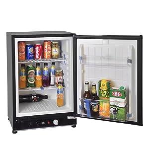 SMETA 2.1 cu ft Portable Gas Refrigerator 110V 12V Electric Absorption Propane Bar Cooler,Black
