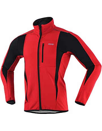 dc45daf7c ARSUXEO Winter Warm UP Thermal Softshell Cycling Jacket Windproof  Waterproof 15-k