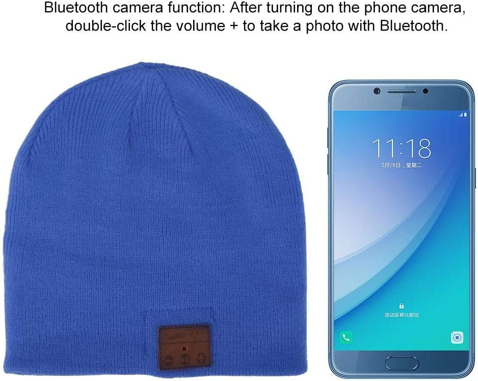 Speakerphone Cap Hands Free with Bluetooth one-to-Two Function for Women Mom Teens Boys Girls Red Bluetooth Beanie Hat Smart Beanie Headset Musical Knit Winter Outdoor Sport Knit Cap