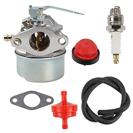 Amazon.com: Euros Carburetor with Primer Bulb Spark Plug ...