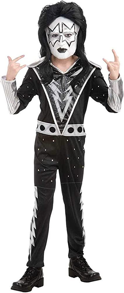 Spaceman KISS Costume Adult Ace Frehley Rockstar Halloween Fancy Dress