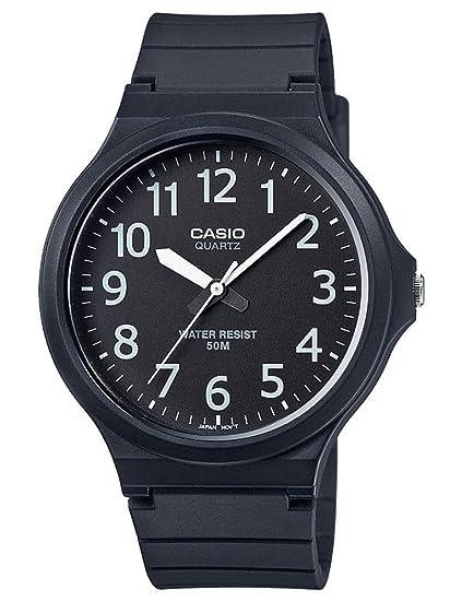 f5718e9b5bda Casio Reloj Analógico para Hombre de Cuarzo con Correa en Plástico  MW-240-1BVEF  Amazon.es  Relojes
