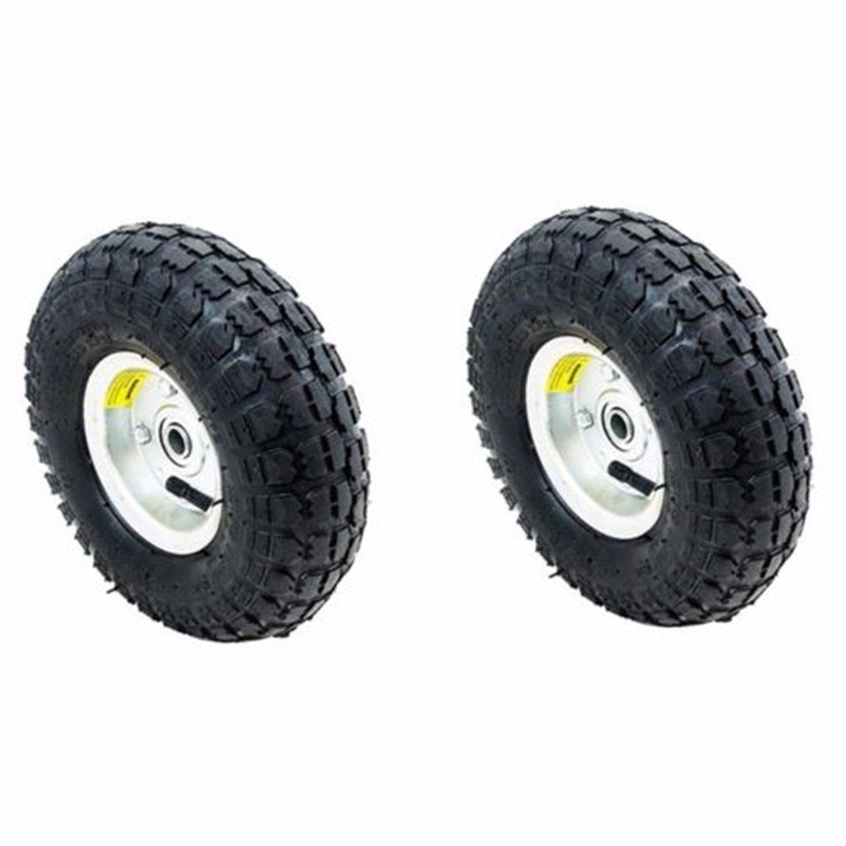 WShop 2pcs. Tires Set 10 in. Air Pneumatic Wheel Tires Handtruck Garden Cart Wagon Dump #122