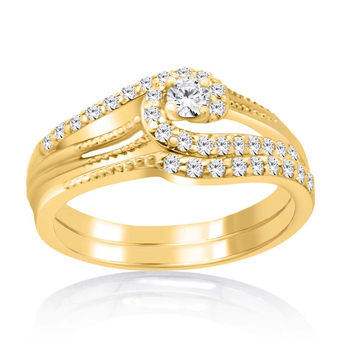 db51314ce37 Amazon.com: Women's Jewelry Forever 14K Yellow Gold Plated Alloy ...