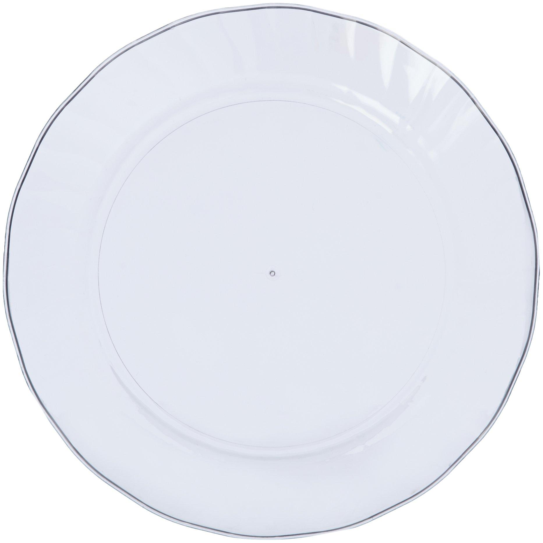 AmazonBasics Disposable Plastic Plates - 100-Pack, 7.5-inch by AmazonBasics (Image #3)